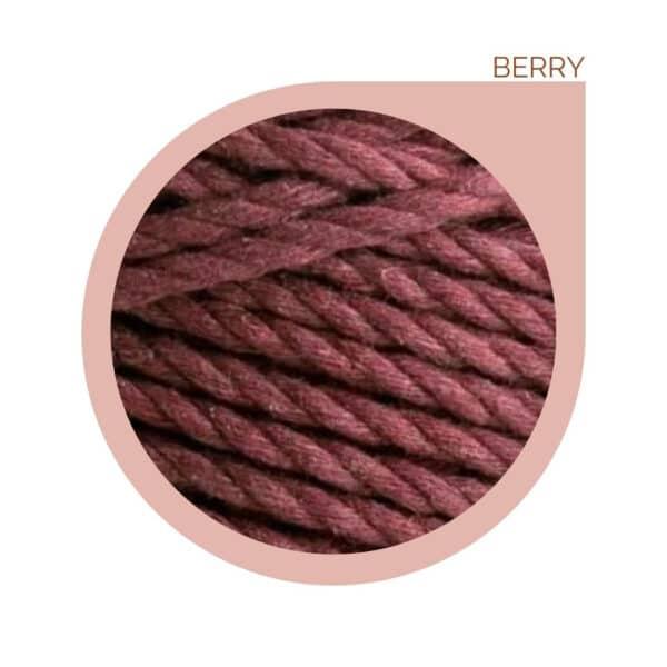 macrame rope cord berry