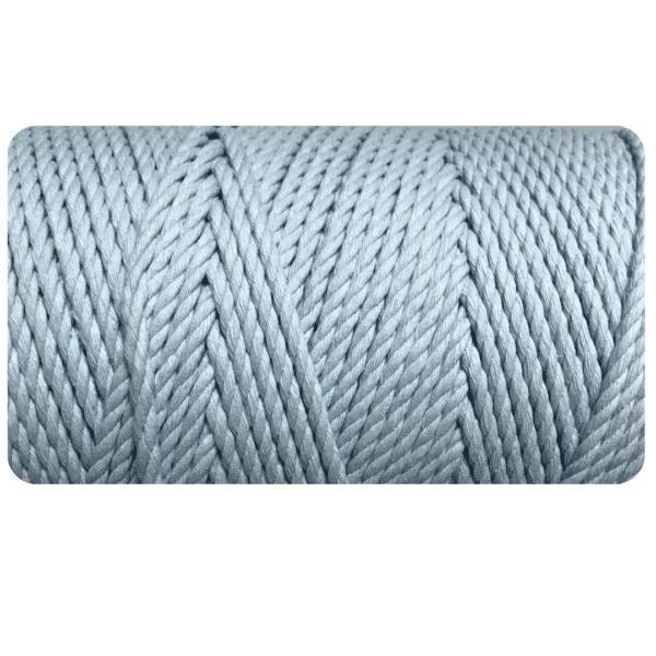 Macrame Rope 3ply 4mm Blue Mist