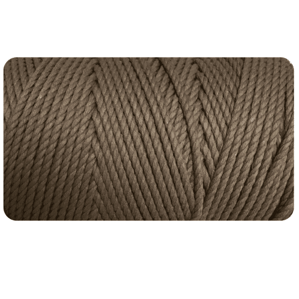 macrame rope 3ply 4mm Taupe