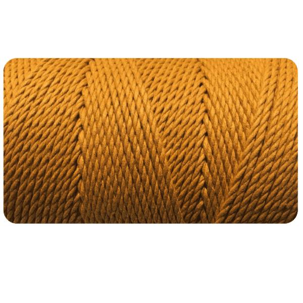 macrame rope 4mm MUSTARD