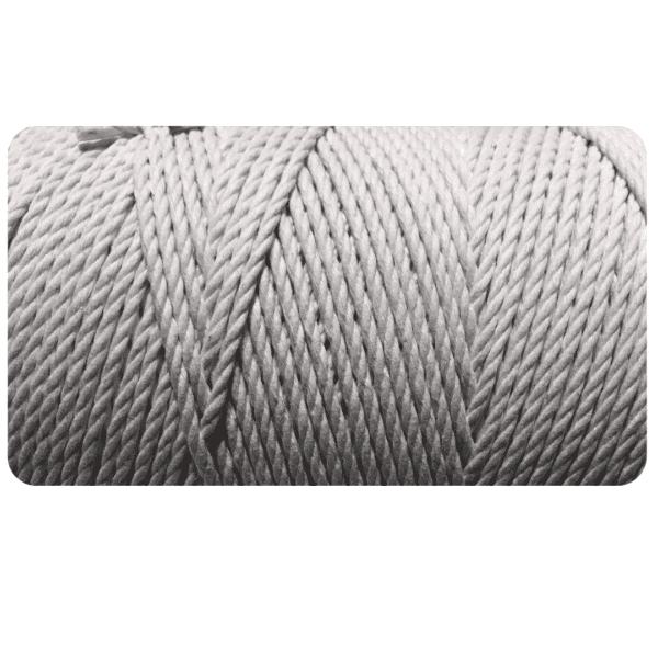 macrame rope 3mm SAND GREY