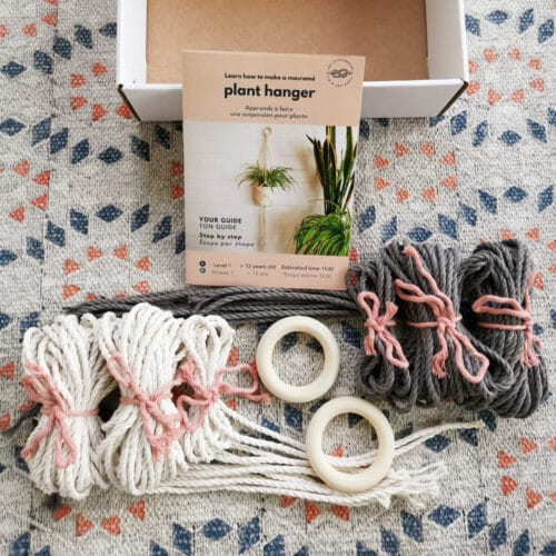 DUO DIY macrame plant hanger kit all contents