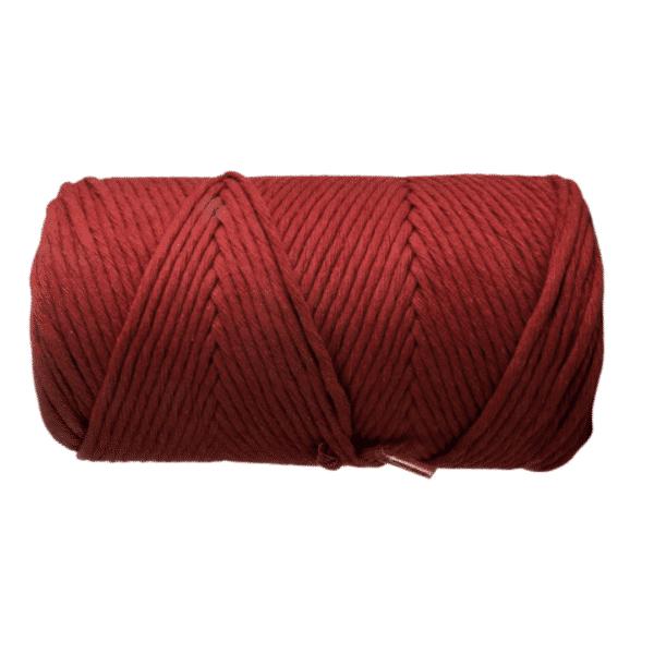 macrame rope 3mm singleply RUST