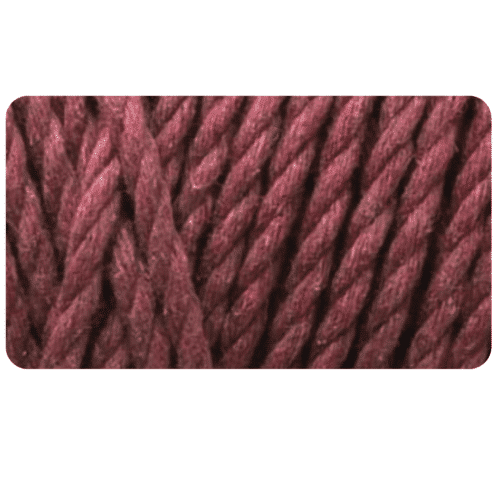macrame rope 4mm BERRY WINE