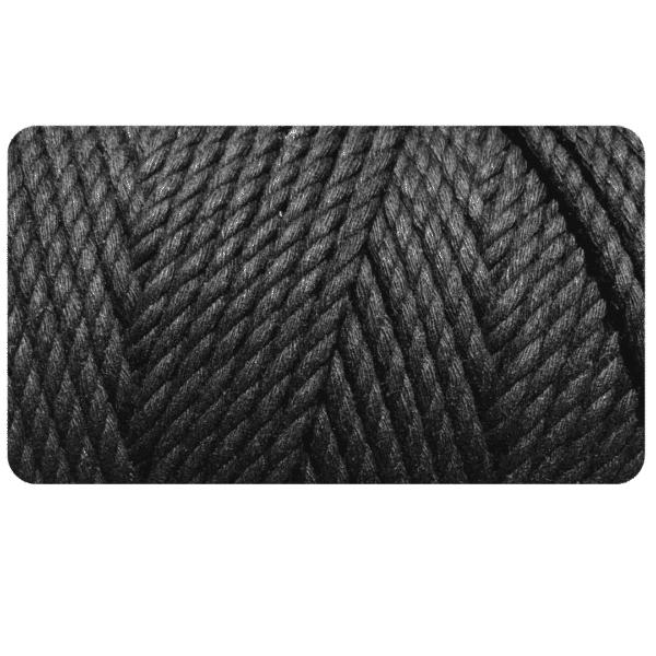 macrame rope 4mm BLACK
